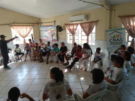Oficina de Capoeira do CRAS visita Minas do Leão