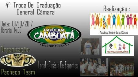 Dia 1º de outubro tem troca de faixa na Capoeira