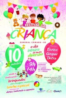1º Festival da Criança será dia 10 de outubro