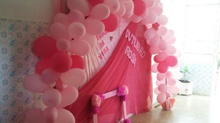 CRAS está decorado para o outubro rosa
