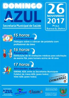 Domingo AZUL será dia 26 de novembro