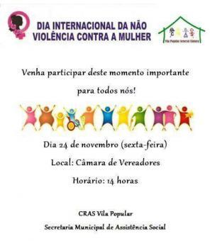 Assistência Social promove Dia da não violência contra a mulher
