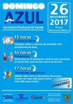 Domingo AZUL será no próximo domingo (26)