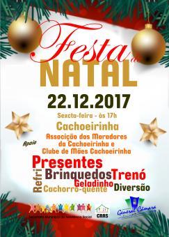 Ultima Festa de Natal será na Cachoeirinha