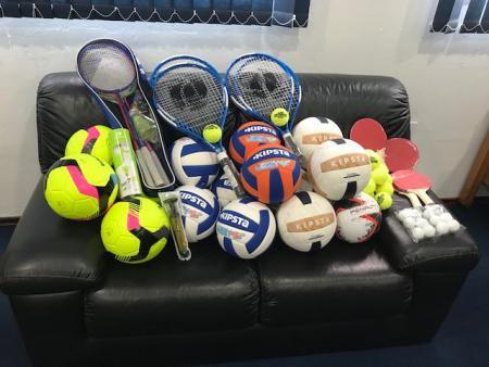 Material esportivo, atividades 2018