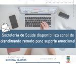 Secretaria de saúde disponibiliza canal de atendimento remoto para Suporte Emocional
