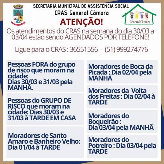 ATENÇÃO, moradores que necessitam de atendimento do CRAS