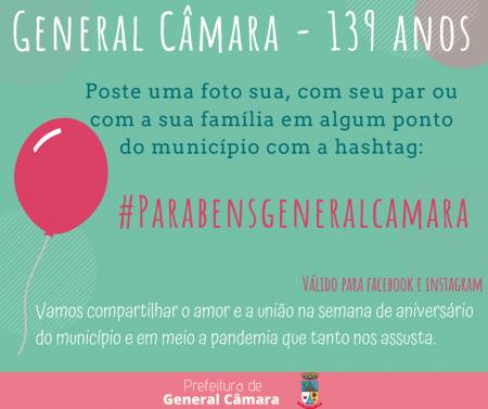 General Câmara - 139 anos