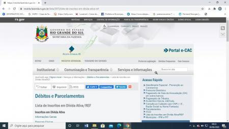 Secretaria de Fazenda disponibiliza o nome dos inscritos em Dívida Ativa (ICMS/IPVA)