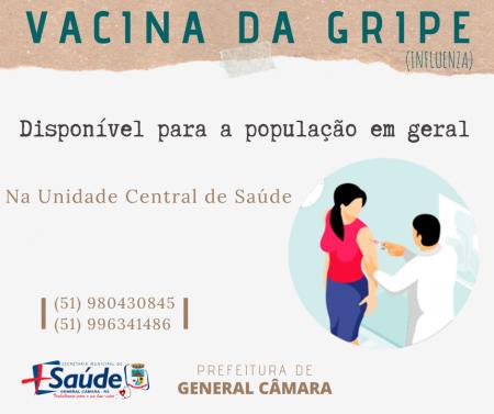 Vacina da gripe disponível para toda a população