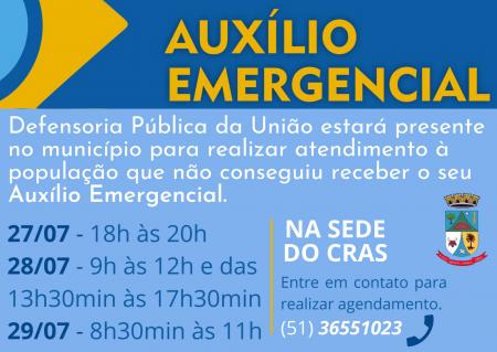 Defensoria Pública atenderá pessoas com dificuldade para receber seu auxílio emergencial